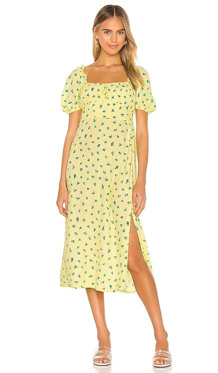 Bette Midi Dress FAITHFULL THE BRAND $189 NEW