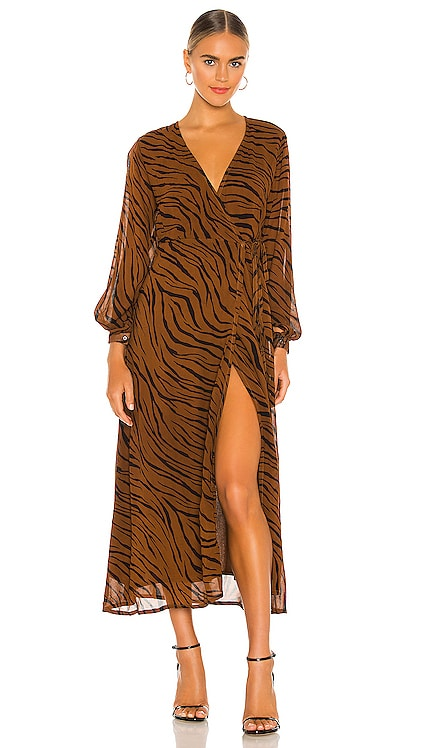 Florian Wrap Dress FAITHFULL THE BRAND $309 NEW