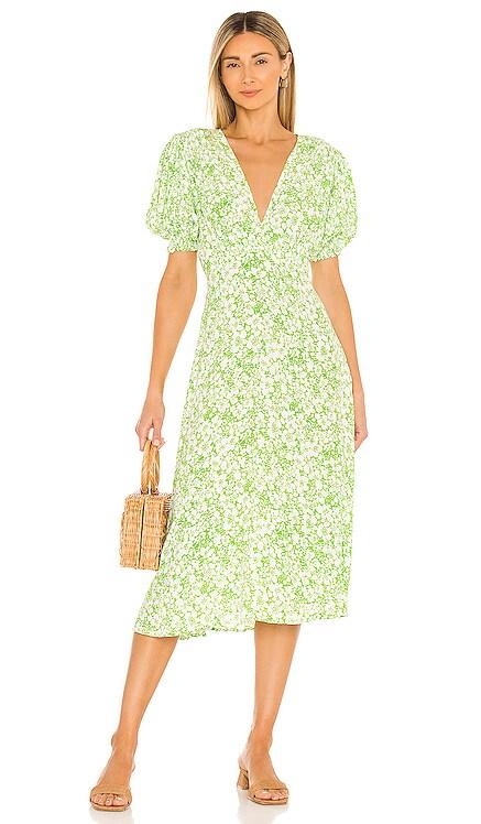 Marie Louise Midi Dress FAITHFULL THE BRAND $189 NEW