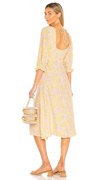 Clement Midi Dress FAITHFULL THE BRAND $219 NEW