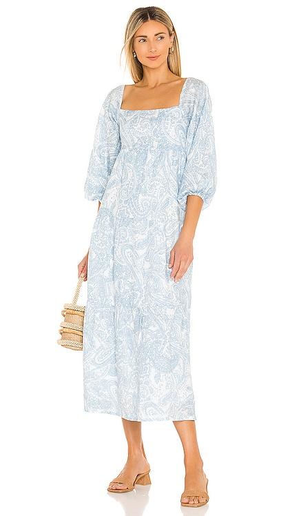 Alison Midi Dress FAITHFULL THE BRAND $319 NEW