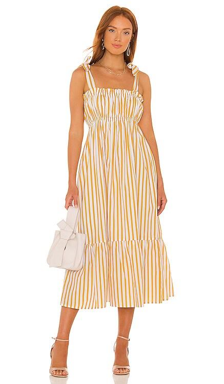 Gia Midi Dress FAITHFULL THE BRAND $239 NEW