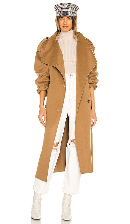 Double Breasted Wrap Coat FRAME $948
