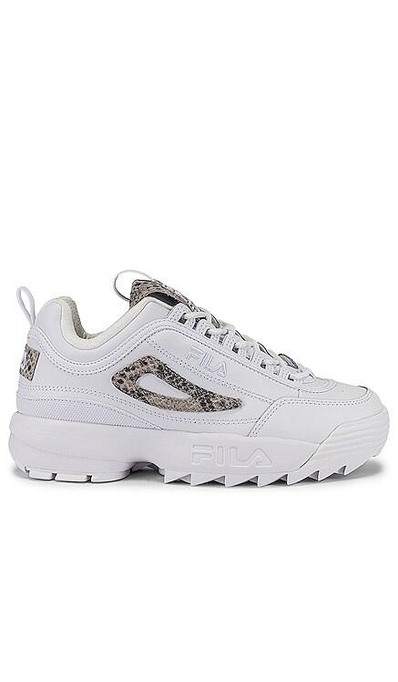 Disruptor II Snake Sneaker Fila $75 NEW