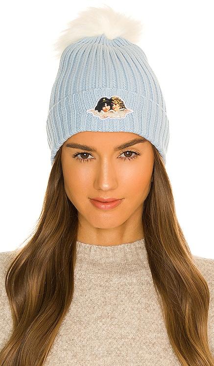 Icon Angels Faux Fur Bobble Hat FIORUCCI $60 NEW