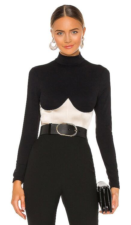 Mock Neck Long Sleeve Bodysuit fleur du mal $395 BEST SELLER