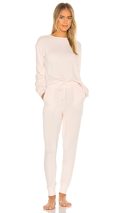 Lotus Brush Knit PJ Set Flora Nikrooz $88