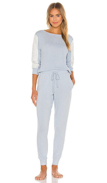 Harbor Cozy Brushed Knit Long Sleeve PJ Set Flora Nikrooz $88