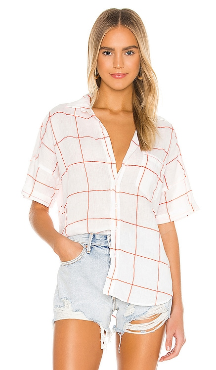 Rose Short Sleeve Button Down Frank & Eileen $198 NEW ARRIVAL