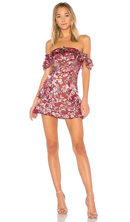 Flora Off Shoulder Mini Dress For Love & Lemons $198