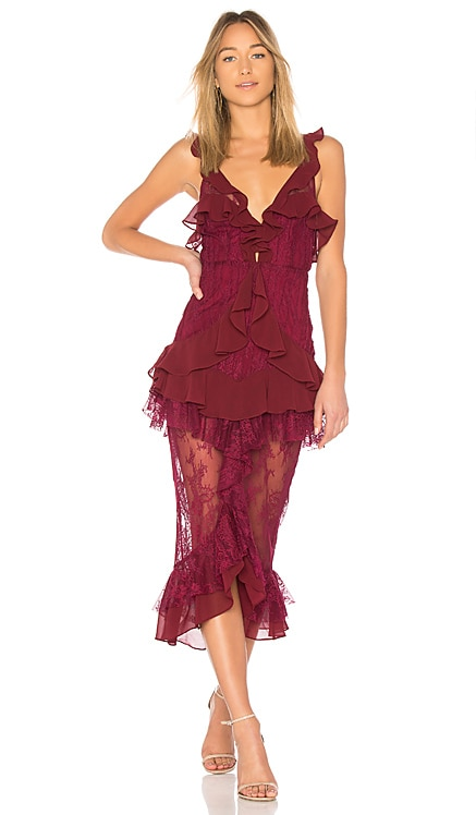 Daphne Lace Midi Dress For Love & Lemons $334