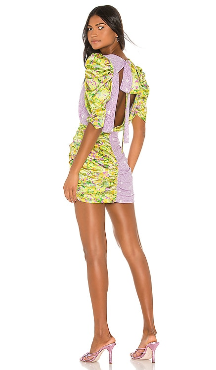Dubois Mix Print Mini Dress For Love & Lemons $238