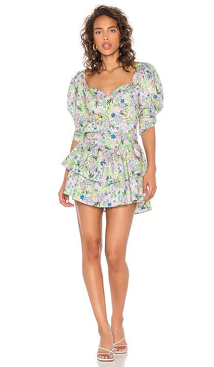 Jardine Mini Dress For Love & Lemons $227 NEW