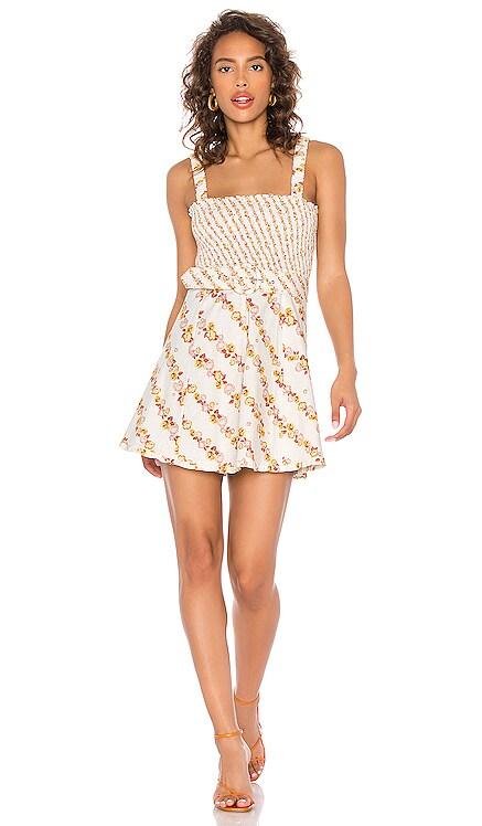 Georgia Smocked Mini Dress For Love & Lemons $194 NEW