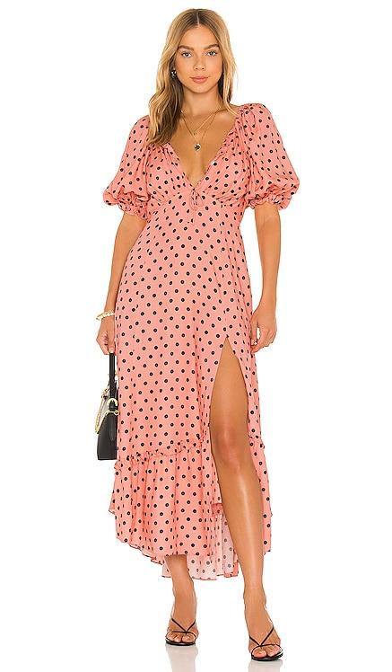 Keeley Midi Dress For Love & Lemons $244 NEW