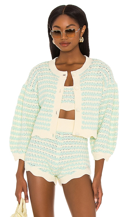 Lizzy Stripe Knit Cardigan For Love & Lemons $128