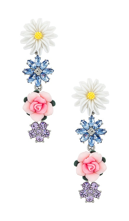 Hollyhock Drop Earrings For Love & Lemons $57