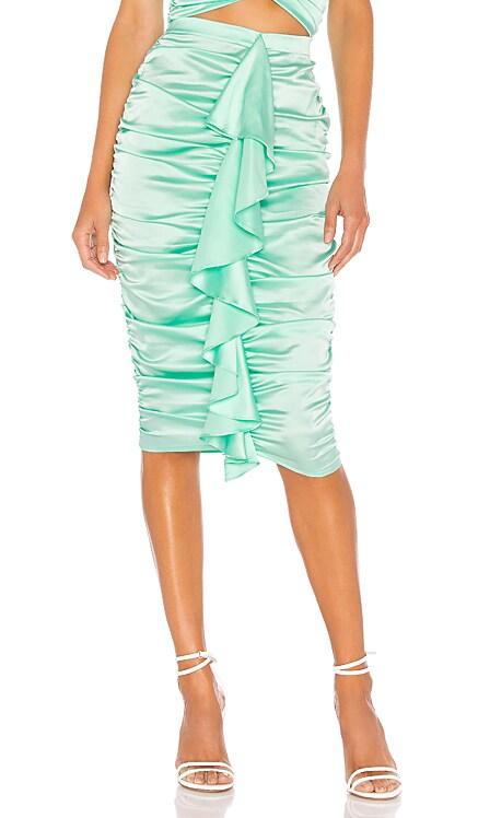 X REVOLVE Ruched Midi Skirt For Love & Lemons $145