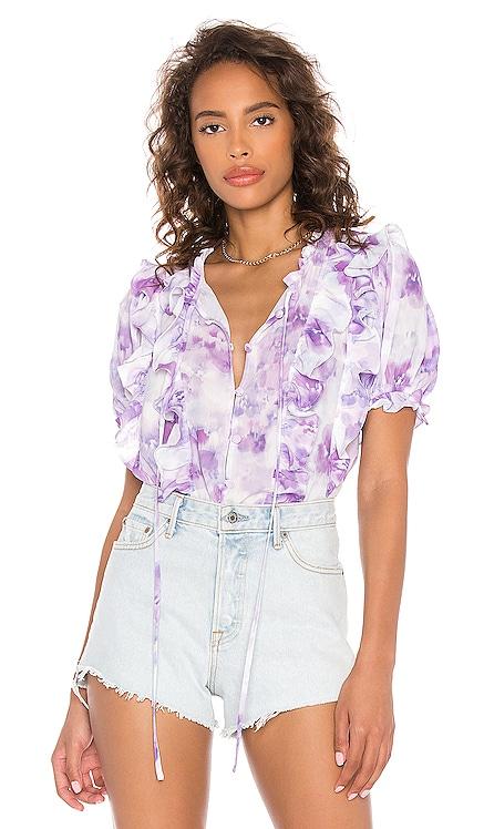 Zinna Ruffle Blouse For Love & Lemons $121 NOUVEAU