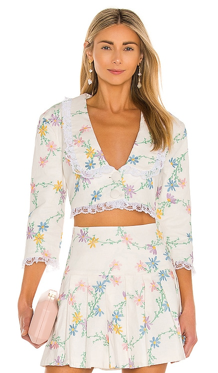 Majorie Crop Top For Love & Lemons $178 NUEVO