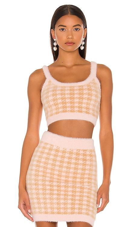 Cher Crop Sweater Tank For Love & Lemons $92 NEW