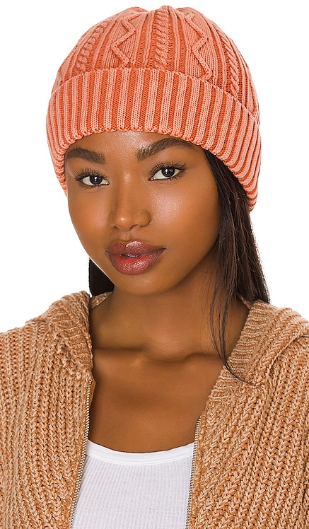 Stormi Washed Cable Beanie Free People $28 NEW