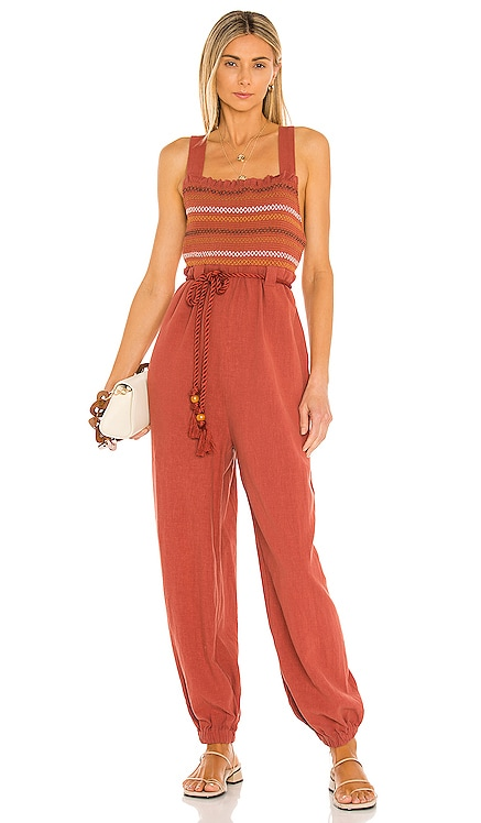 Sienna Smocked Jumpsuit Free People $168