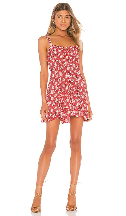 Don't Dare Mixed Print Mini Dress Free People $78 NEW ARRIVAL