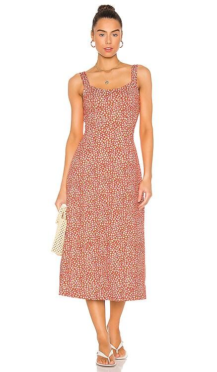 Lorelai Printed Midi Dress Free People $128 NEW