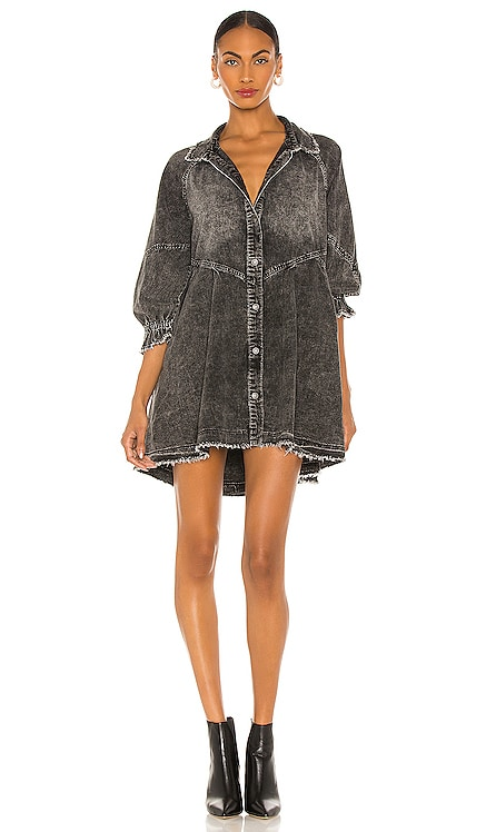 Hannah Mini Denim Dress Free People $128