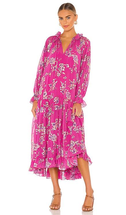 Feeling Groovy Maxi Foil Dress Free People $168