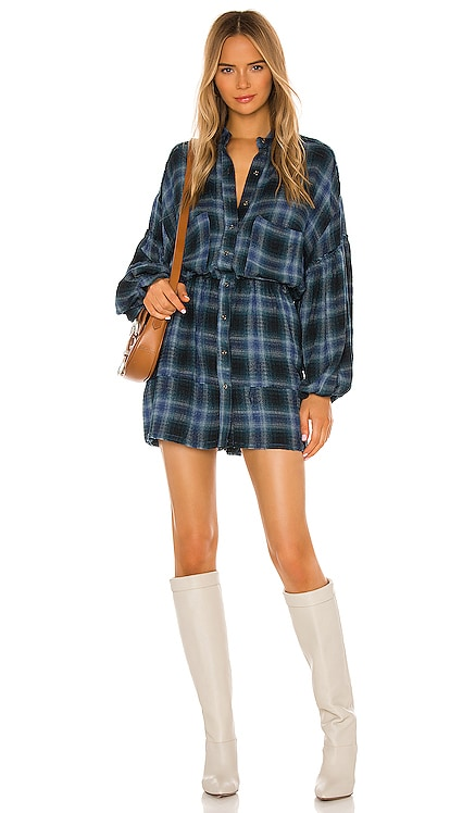 ROBE COURTE BY THE WAY PLAID Free People $128 BEST SELLER