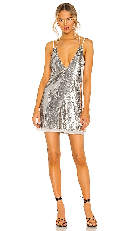 Double Take Sequin Mini Dress Free People $98 NEW