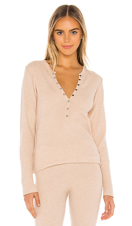 Think Thermal Henley Tee Free People $78