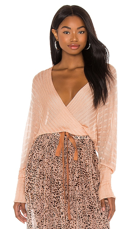Pluto Wrap Sweater Free People $128 NEW