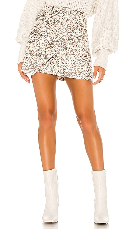 Printed Fake Out Faux Wrap Skirt Free People $88