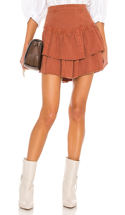 Ruffles In The Sand Mini Skirt Free People $88