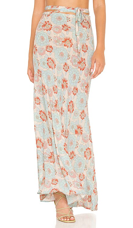 Thats A Wrap Printed Skirt Free People $98