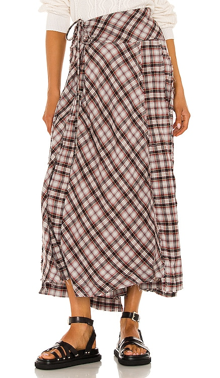 Deep In Thought Maxi Skirt Free People $128 NEW