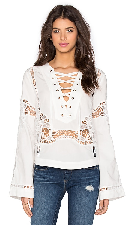 Bittersweet Lace Up Top Free People $67