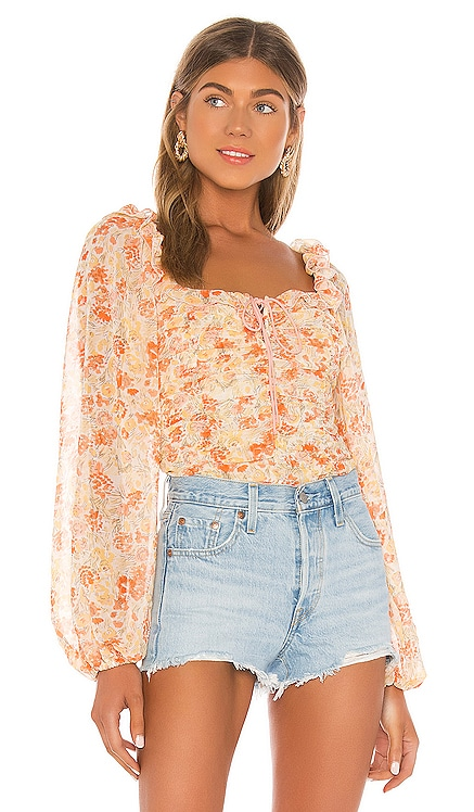 Mabel Printed Blouse Free People $108 NEW ARRIVAL