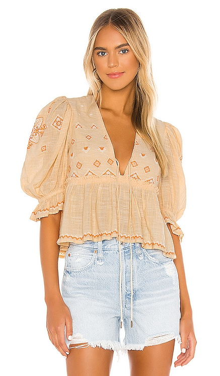 Tallulah Embroidered Blouse Free People $128