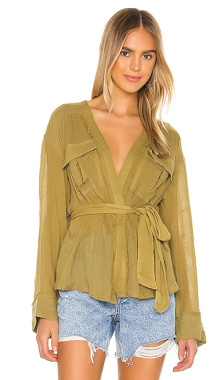 GILET DRAPÉ SAFARI Free People $98 BEST SELLER