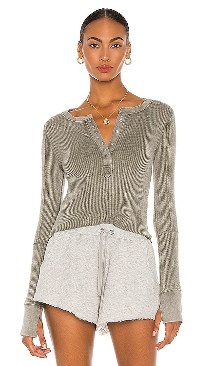 Everest Henley Tee Free People $68 NEW