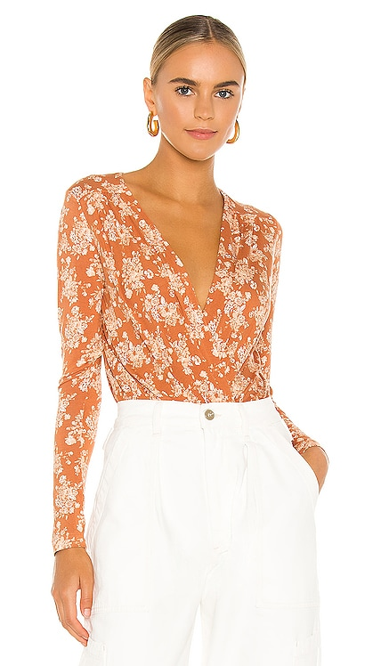 Printed Turnt Bodysuit Free People $78 BEST SELLER