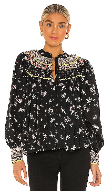 Paloma Printed Blouse Free People $118 NOUVEAU