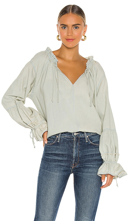 Alpine Denim Top Free People $128
