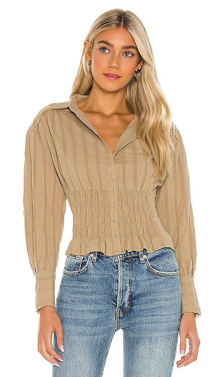 Tammy Button Down Top Free People $98 NEW