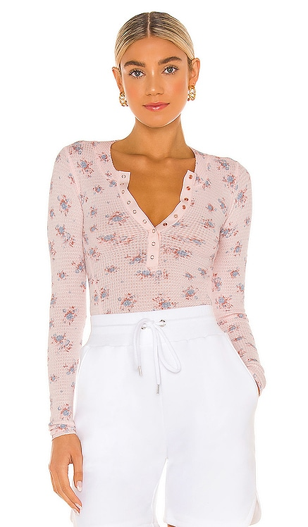 One of The Girls Printed Henley Free People $48 NEW