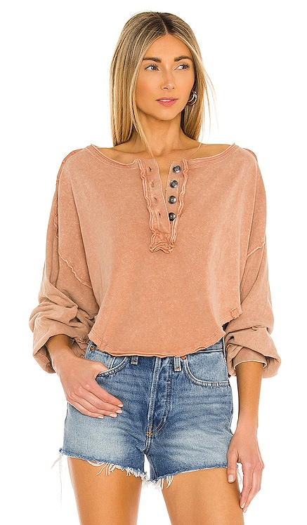 Melodi Henley Top Free People $68 NEW